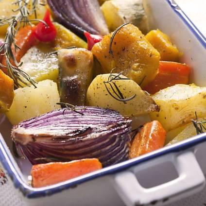 Legumes assados com alecrim
