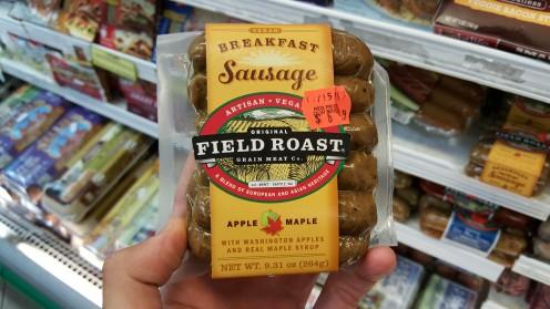 Salsichas veganas também da marca Field Roast