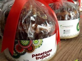 Chocotones do Emporium Vida, de São Lourenço (MG), na loja Vegan Vibe, de Mogi das Cruzes (SP)