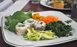 Prato do Panda Vegetariano, situado próximo à praça da República, centro paulistano